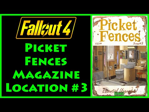 Fallout 4 - Picket Fences - Saugus Ironworks - 4K Ultra HD