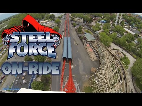 Steel Force On-ride Front Seat (HD POV) Dorney Park