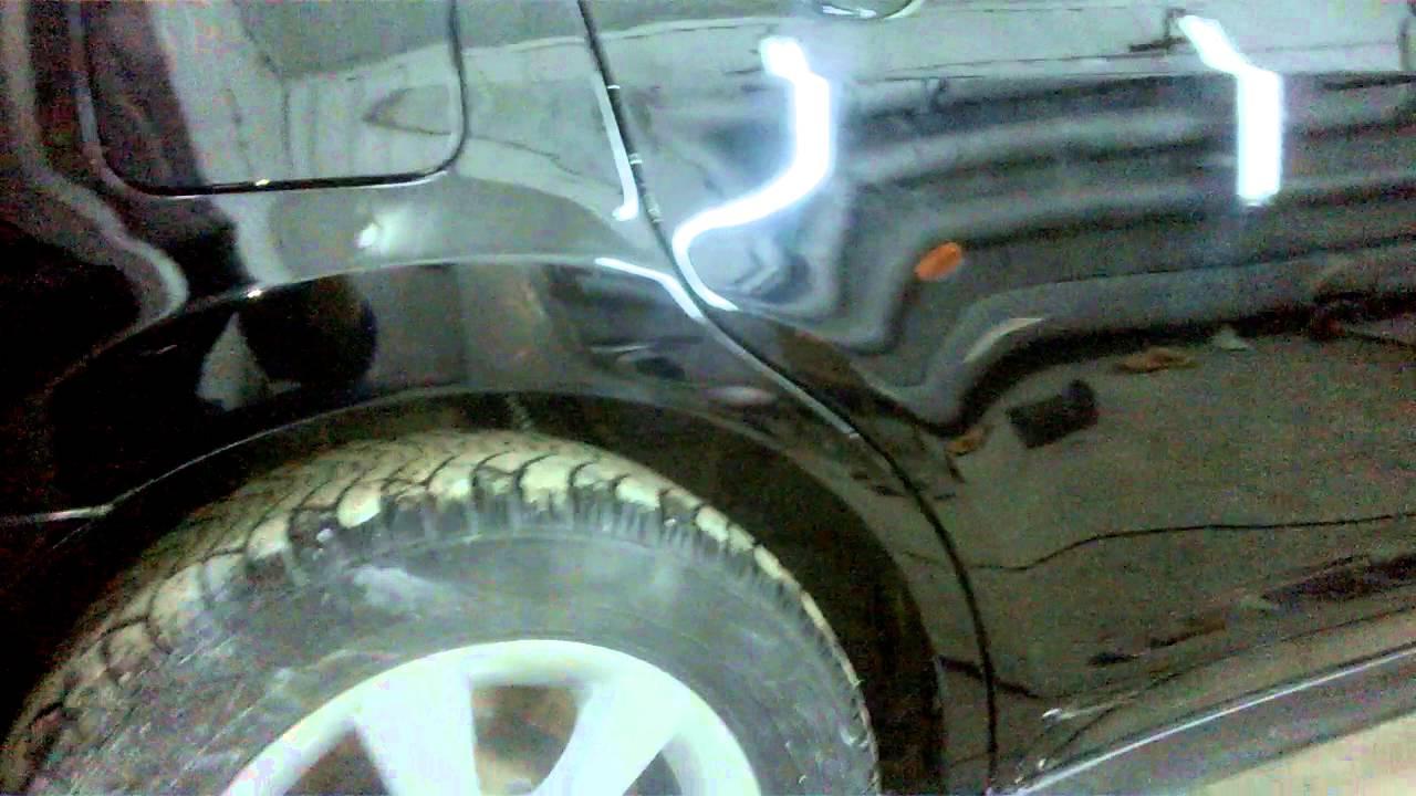 ремонт заднего крыла Nissan Tiida ч.2