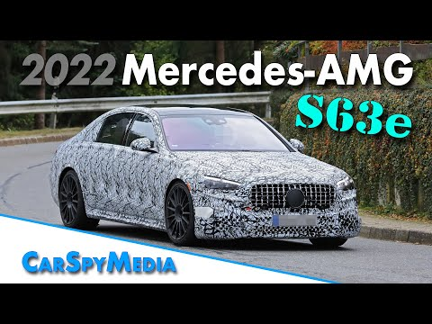 2022 Mercedes-AMG S63e prototype spied testing at Nürburgring technical center