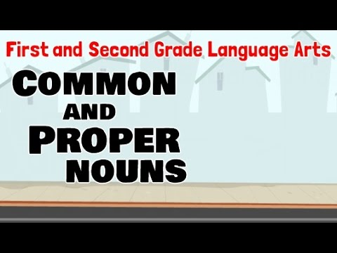 Common And Proper Nouns | 1st And 2nd Grade Language Arts For Kids
