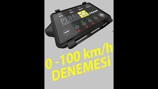 Honda Araç ile Pedal Commander Pedal Box 0 100km Hız Denemesi