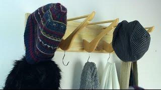 Wall Coat Rack From Wooden Hangers