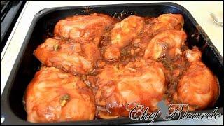 bbq chicken in the oven easy barbecue chicken recipe