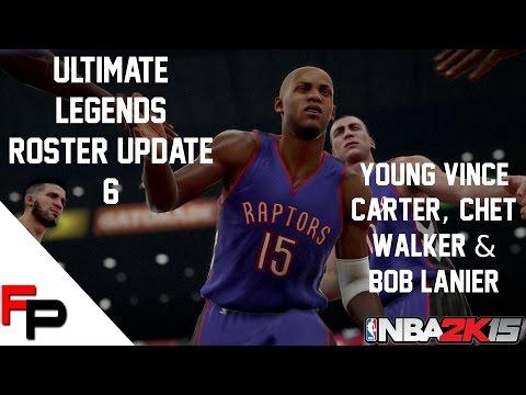 NBA 2K15 - Young Vince Carter, Chet Walker and Bob Lanier - Ultimate Legends Roster Update 6