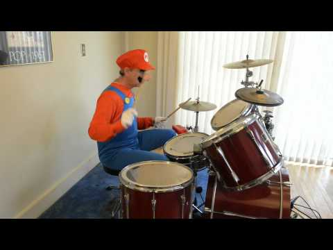 Super Mario on the drums by Howard Fields