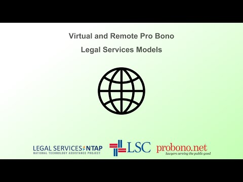 Virtual and Remote Pro Bono Legal Services Models