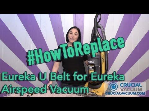 Eureka U Belt for Eureka Airspeed Vacuum Replacement: Part # 61120A, # 61120B, # 61120C, & # 61120D
