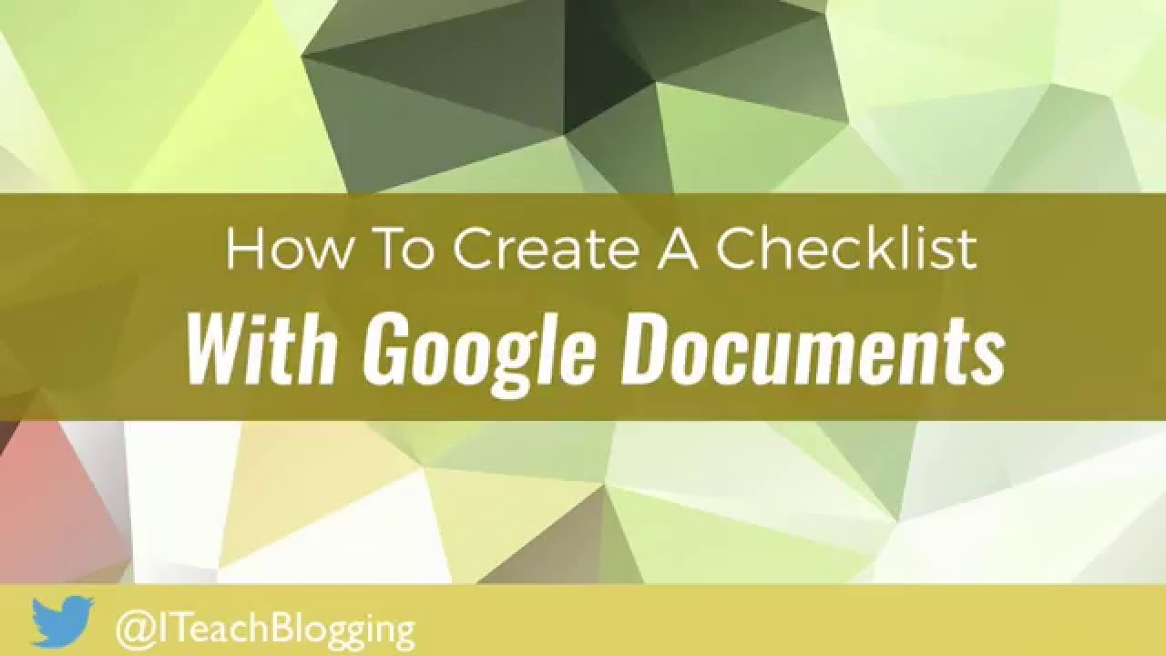 How To Create A Free Content Upgrade Checklist With Google Docs - Create checklist in google docs