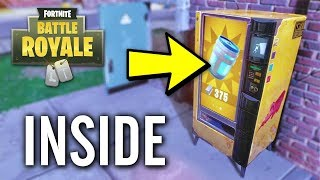 Fortnite - How to Get Inside of Vending Machines Glitch