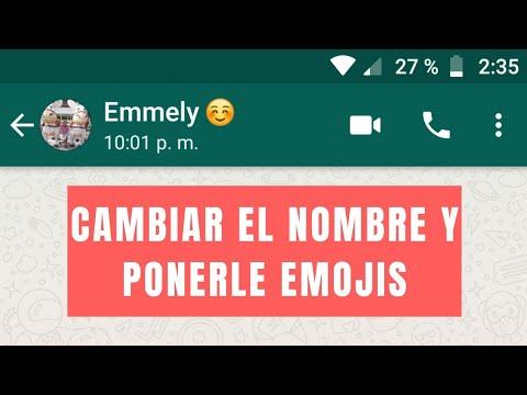 Como Cambiar El Nombre De Un Contacto En WhatsApp 2018 | Plus Android