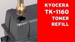 How to refill Kyocera TK-1160 toner cartridge? ECOSYS P 2040 by