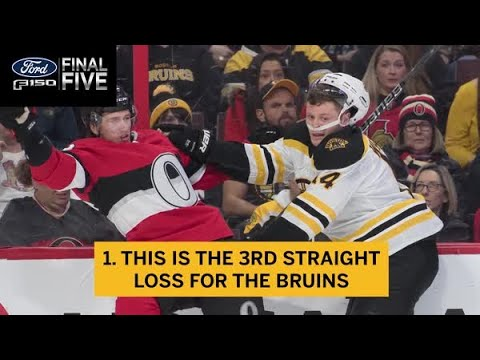 Ford Final Five Facts: B's Lose Despite Patrice Bergeron's Return