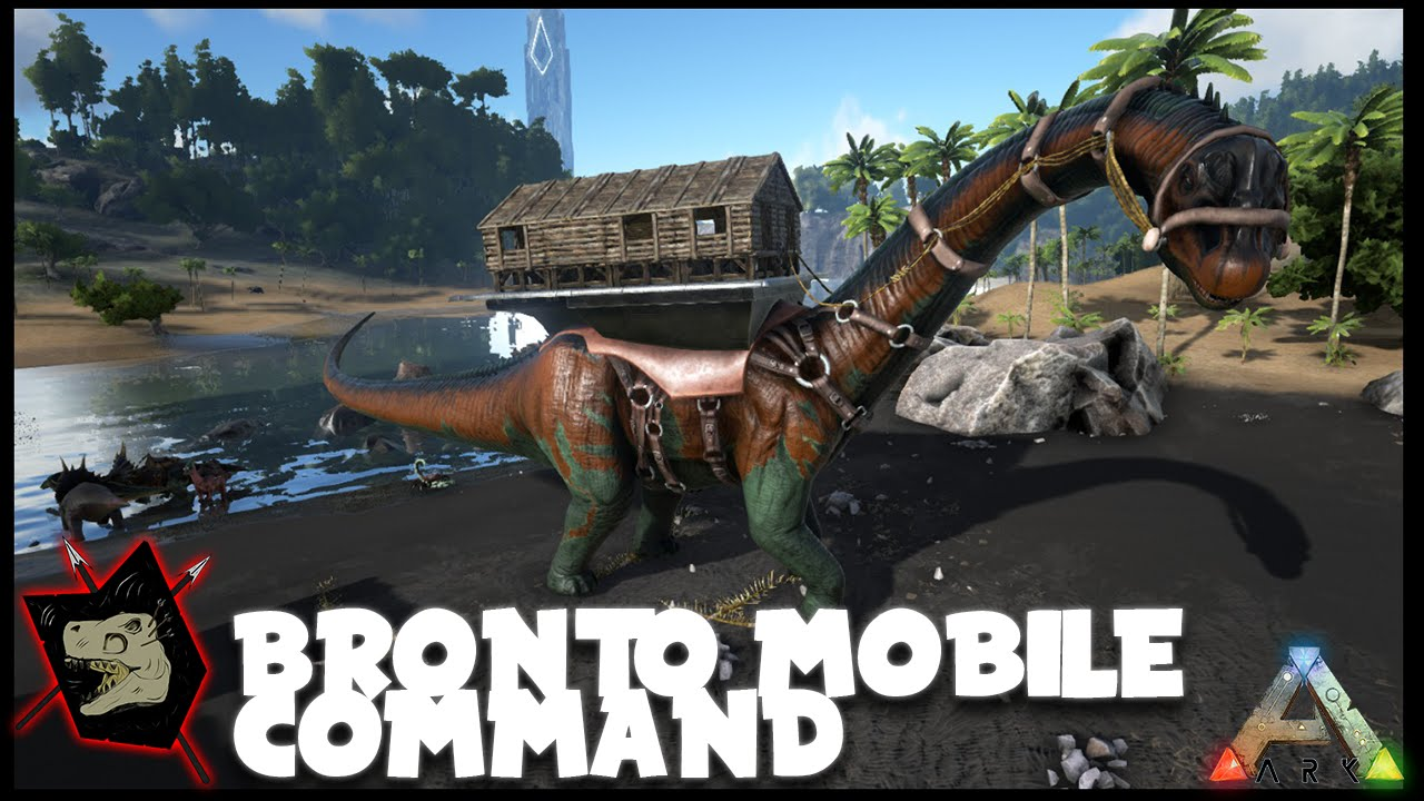 ARK Survival Evolved Gameplay #50 Bronto Mobile Command AKA Bronto ...