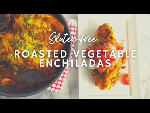 Spicy Roasted Vegetable & Bean Enchiladas* | Gluten-free Vegan | Korenn Rachelle