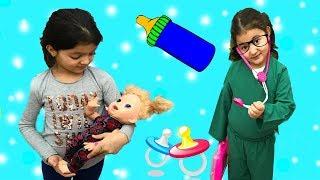 MASALIN BEBEĞİ HASTA OLDU! My baby was sick - Fun Kids Videos