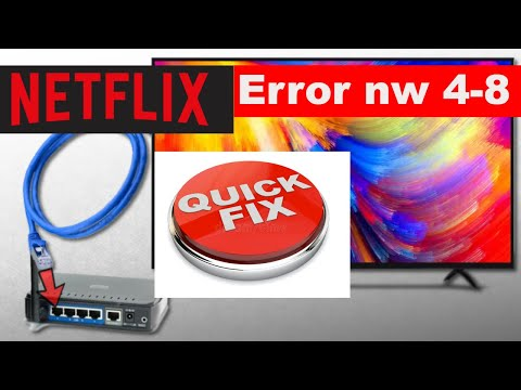 How to fix Netflix Error Code nw 4-8 on smart tv || Common Netflix Error On Smart TV