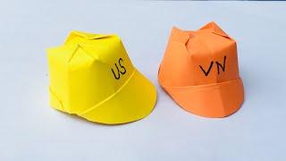 Origami Gấp chiếc mũ nhỏ bé bằng giấy | hướng dẫn gấp mũ | IQ Technic