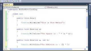 C#: How to implement Method Overloading - Tutorial 8