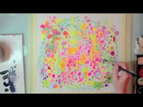 stephanie corfee and traci bautista doodle painting collaboration