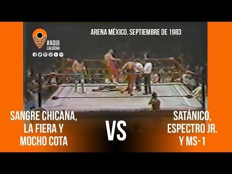 Sangre Chicana, La Fiera Y Mocho Cota Vs Satánico, MS1 Y Espectro Jr. Aquí La Lucha