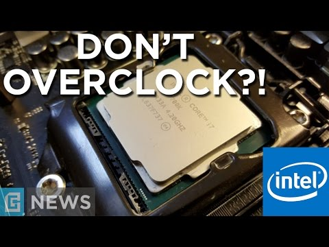 Intel Says NOT To Overclock?!