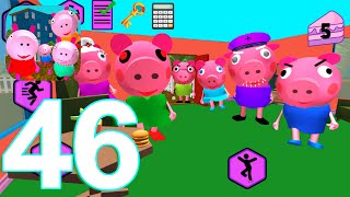 Piggy Neighbor family escape obby house 3D Gameplay Walkthrough Part 46 Glitches (IOS/Android)