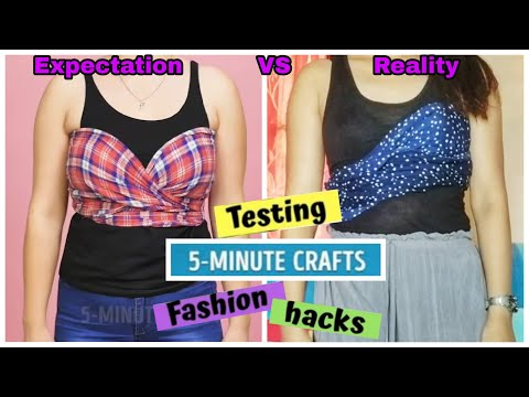 Testing out Viral Fashion Hacks by 5 Minute Crafts 😂