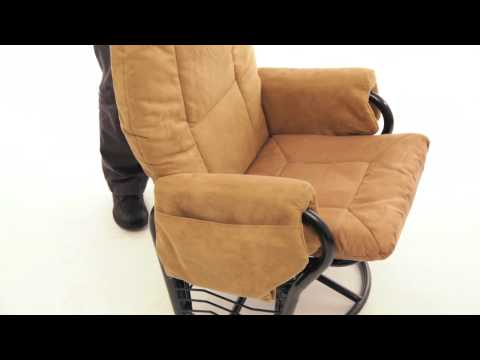 Extra Wide Glider Rocker With Ottoman