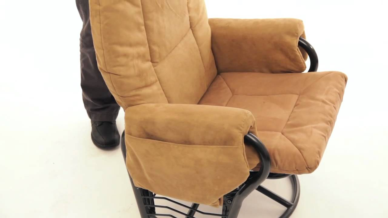 Extra Wide Glider Rocker With Ottoman Youtube