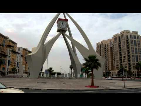 DUBAI CLOCKTOWER ROUNDABOUT VIDEO, RIGGAT AL BUTEEN, DEIRA, DUBAI, UNITED ARAB EMIRATES