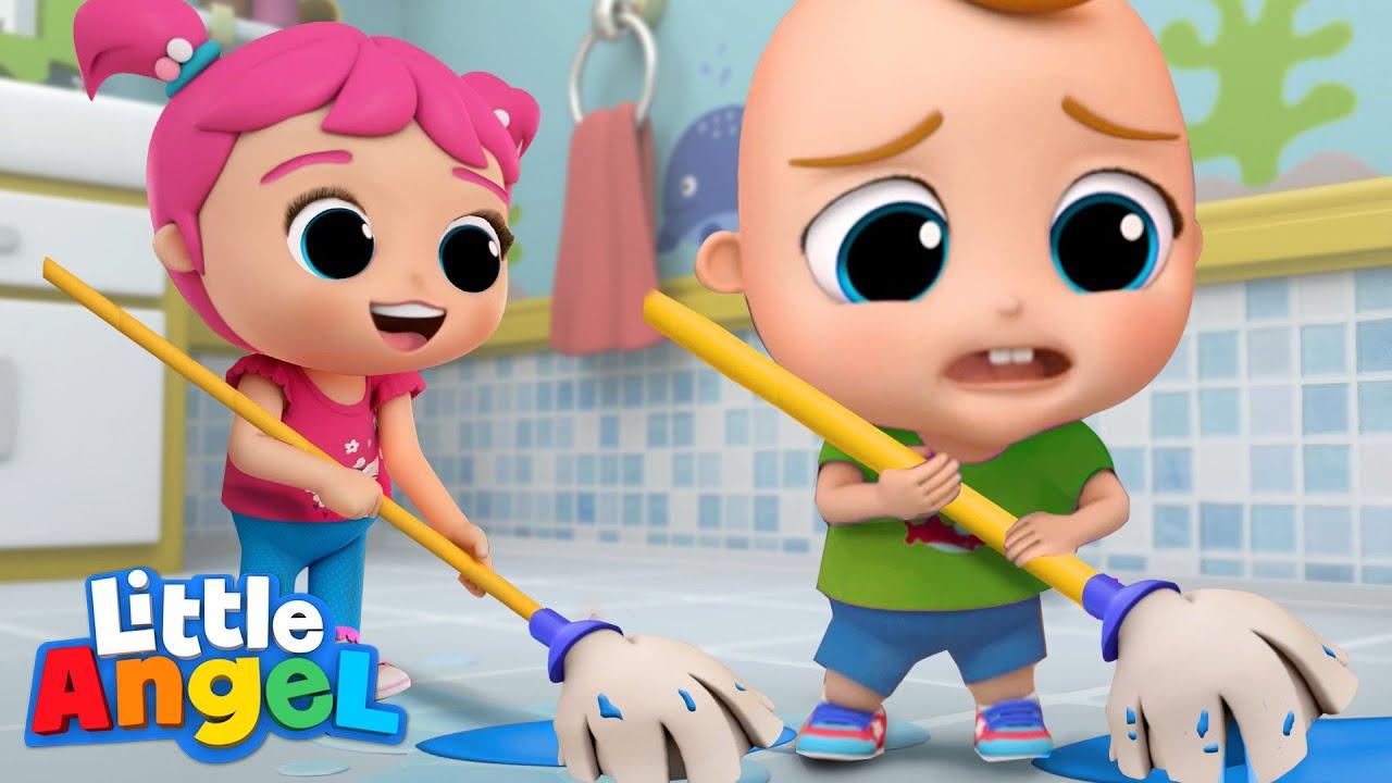 Cleanup Time | Good Habits | Little Angel Kids Songs & Nursery Rhymes
