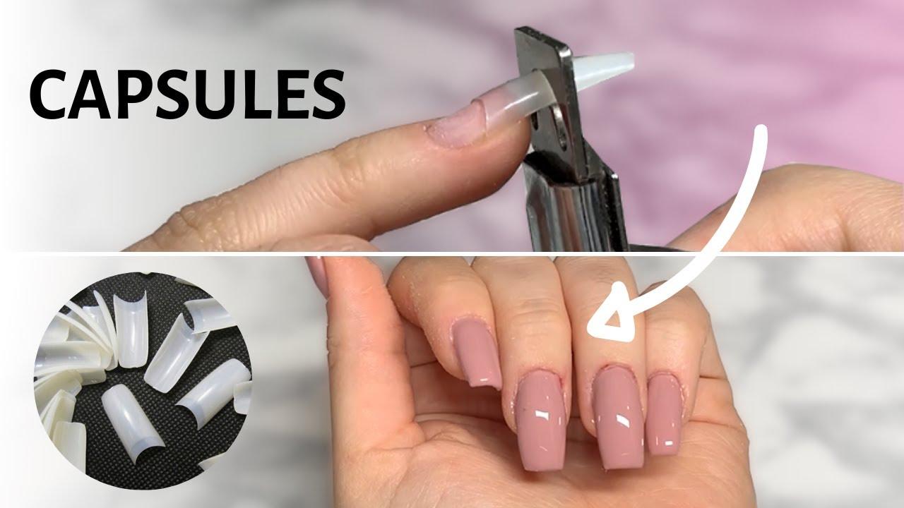 La Pose D Ongles En Gel Avec Capsules Youtube