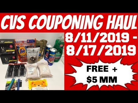 CVS COUPONING HAUL 8/11/2019 - 8/17/2019 | FREE FOR EVERTHING