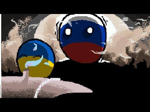Polandball drawing - Red gas