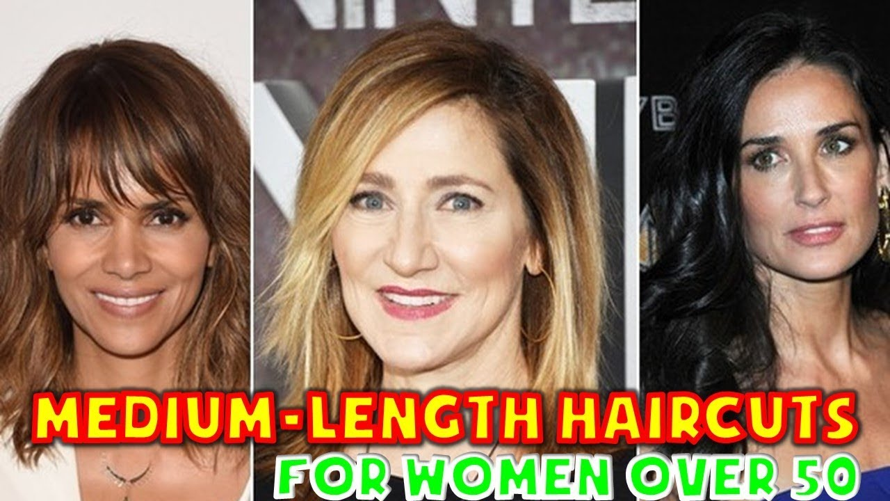 Medium Length Haircuts For Women Over 50 2019 59