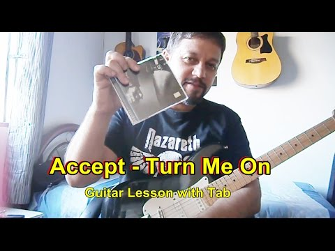 Accept -Turn Me On (lead guitar w/tabs)