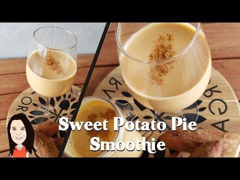 Sweet Potato Pie Breakfast Smoothie - Clean Eating Vegan Weight Loss Shake!