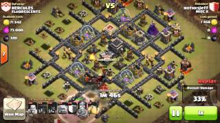 Clash of Clans- Goholo timeout 2 star vs Max Th9 #10
