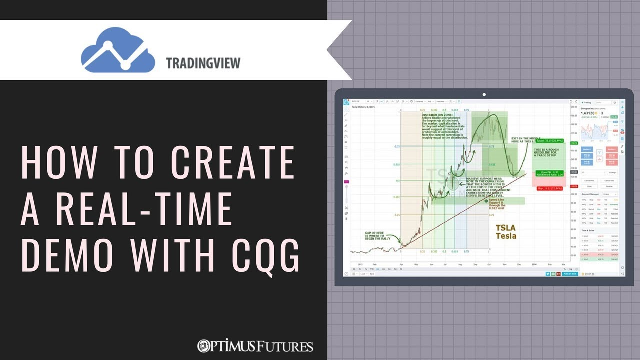 TradingView - How to Create a Real-Time Demo with CQG