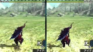 Monster Hunter Cross ¦MHX¦: New 3DS vs 3DS Graphics Comparison