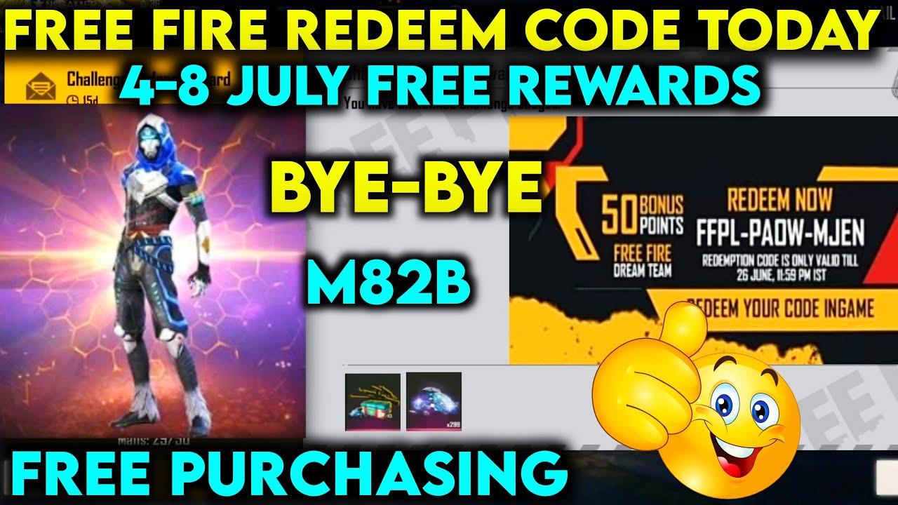 Free Fire Redeem Code 4th July 2021 Get Ff Rewards For Indian Server Singapore Europe Reward Ff Garena Com