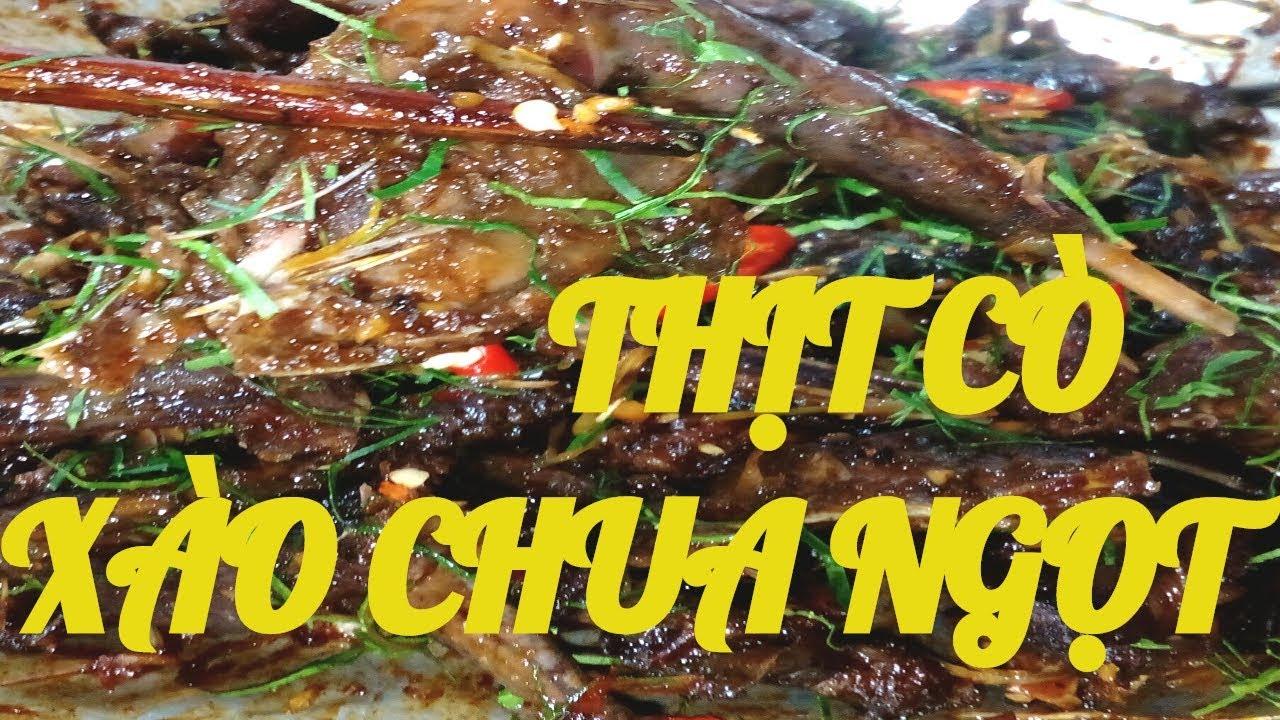 Cách làm món THỊT CÒ XÀO CHUA NGỌT đơn giản mà thơm ngon như đang ăn ở nhà hàng / By Cooking DT
