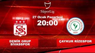 Sivasspor Rizespor Maçı Canlı izle