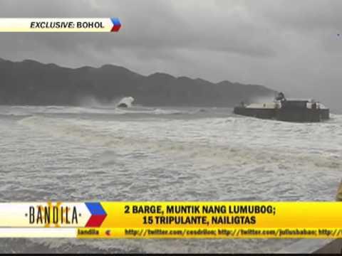 Watch: Daring rescue of barge crew in Bohol