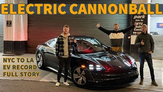 EV Road Trip From NYC to Los Angeles! Breaking The Electric Cannonball Record In A Porsche Taycan 4S