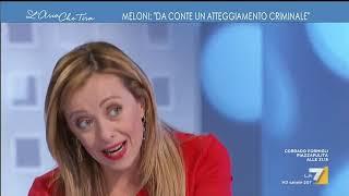 "Coronavirus, Giorgia Meloni: ""non Ho Paura Per Me, Non Ho Paura Per Mia Figlia, Ho Paura Per La ..."