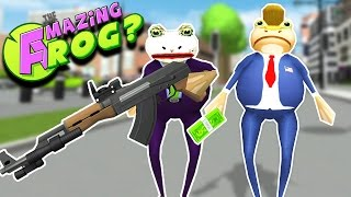 JOKE FROG BUSTS TRUMP FROG OUT OF JAIL?! VILLAINS!! || Amazing Frog Gameplay/Funny Moments Part 20