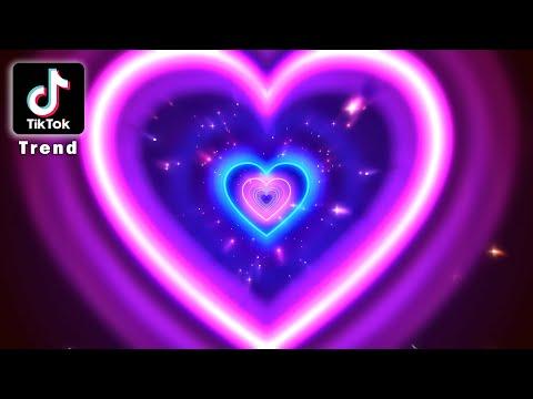 Download Neon Lights Love Heart Tunnel  ║ TikTok Trend ║ 4K  Romantic Glow - Moving Background #TunnelTrend