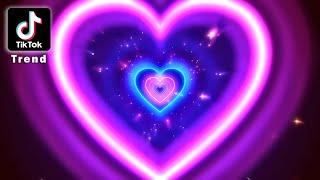Neon Lights Love Heart Tunnel  ║ TikTok Trend ║ 4K  Romantic Glow - Moving Background #TunnelTrend screenshot 2